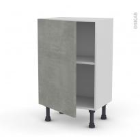 Meuble de cuisine - Bas - FAKTO Béton - 1 porte - L50 x H70 x P37 cm