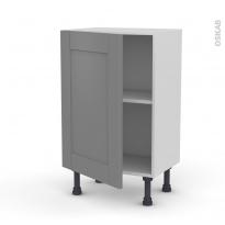 Meuble de cuisine - Bas - FILIPEN Gris - 1 porte - L50 x H70 x P37 cm