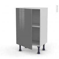 Meuble de cuisine - Bas - STECIA Gris - 1 porte - L50 x H70 x P37 cm