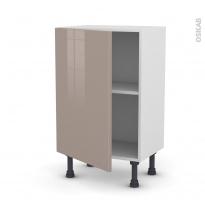Meuble de cuisine - Bas - KERIA Moka - 1 porte - L50 x H70 x P37 cm