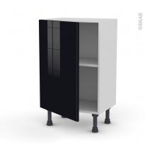 Meuble de cuisine - Bas - KERIA Noir - 1 porte - L50 x H70 x P37 cm