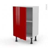 Meuble de cuisine - Bas - STECIA Rouge - 1 porte - L50 x H70 x P37 cm