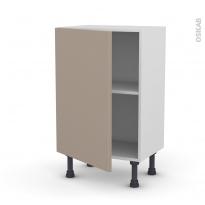 Meuble de cuisine - Bas - GINKO Taupe - 1 porte - L50 x H70 x P37 cm
