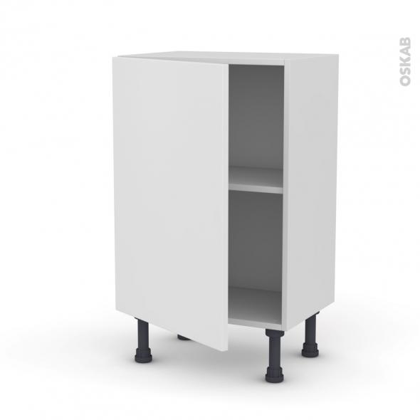Meuble de cuisine - Bas - GINKO Blanc - 1 porte - L50 x H70 x P37 cm