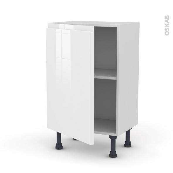 IPOMA Blanc - Meuble bas prof.37  - 1 porte - L50xH70xP37