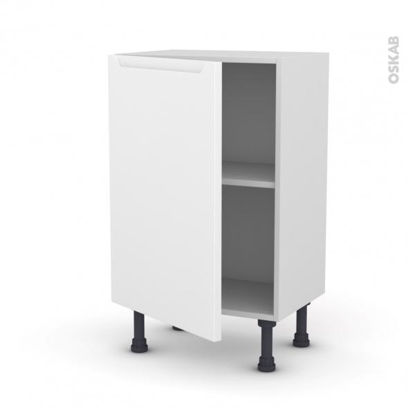 Meuble de cuisine - Bas - PIMA Blanc - 1 porte - L50 x H70 x P37 cm