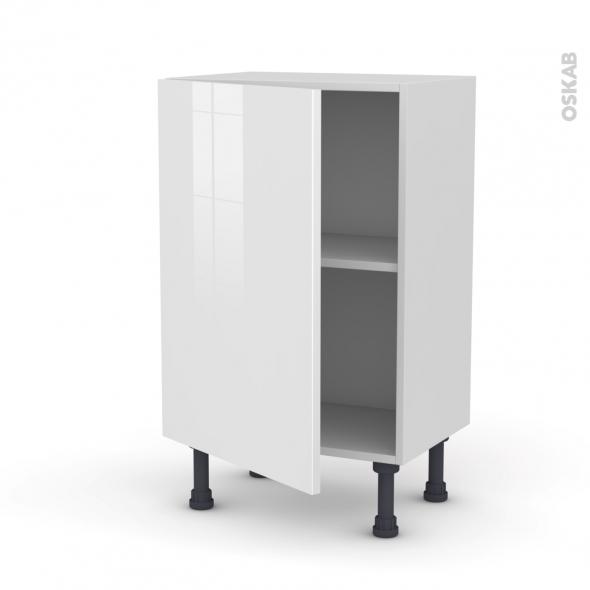 Meuble de cuisine - Bas - STECIA Blanc - 1 porte - L50 x H70 x P37 cm