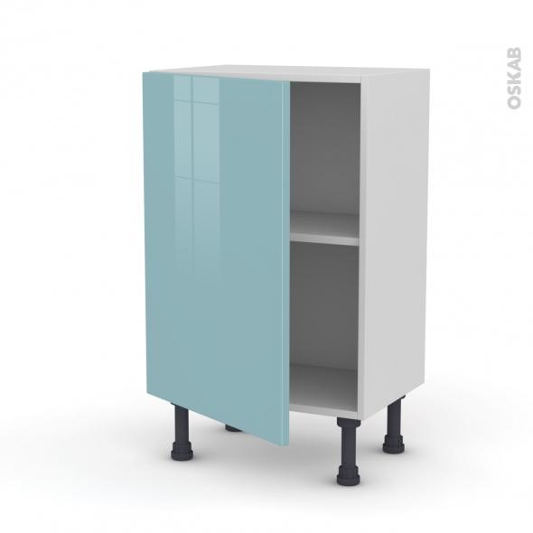 KERIA Bleu - Meuble bas prof.37  - 1 porte - L50xH70xP37
