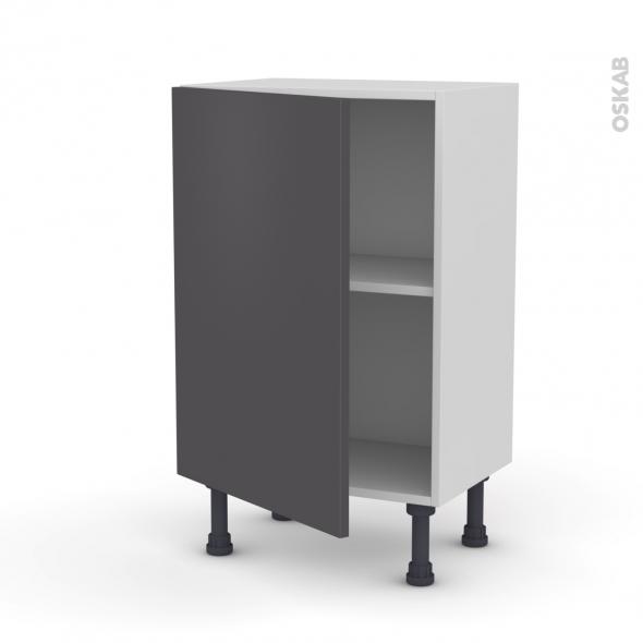 Meuble de cuisine - Bas - GINKO Gris - 1 porte - L50 x H70 x P37 cm