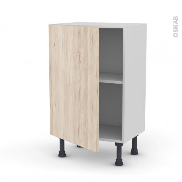 Meuble de cuisine - Bas - IKORO Chêne clair - 1 porte - L50 x H70 x P37 cm