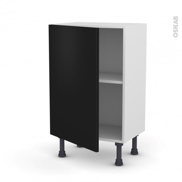 Meuble de cuisine - Bas - GINKO Noir - 1 porte - L50 x H70 x P37 cm