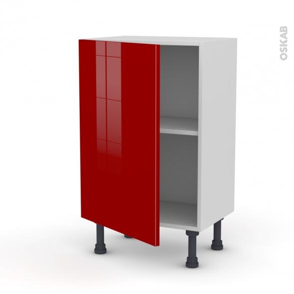 STECIA Rouge - Meuble bas prof.37  - 1 porte - L50xH70xP37