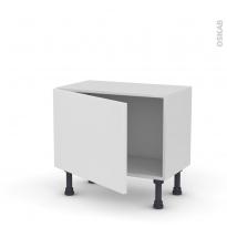 Meuble de cuisine - Bas - GINKO Blanc - 1 porte - L60 x H41 x P37 cm