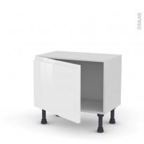 IPOMA Blanc - Meuble bas prof.37  - 1 porte - L60xH41xP37