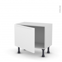 PIMA Blanc - Meuble bas prof.37  - 1 porte - L60xH41xP37