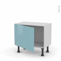 KERIA Bleu - Meuble bas prof.37  - 1 porte - L60xH41xP37