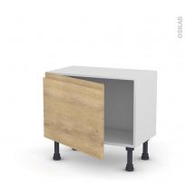 Meuble de cuisine - Bas - IPOMA Chêne naturel - 1 porte - L60 x H41 x P37 cm