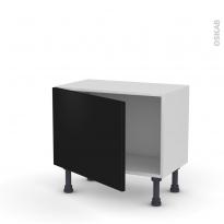 Meuble de cuisine - Bas - GINKO Noir - 1 porte - L60 x H41 x P37 cm