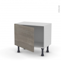 Meuble de cuisine - Bas - STILO Noyer Naturel - 1 porte - L60 x H41 x P37 cm