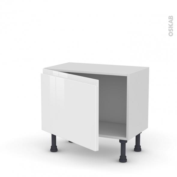 Meuble de cuisine - Bas - IPOMA Blanc - 1 porte - L60 x H41 x P37 cm