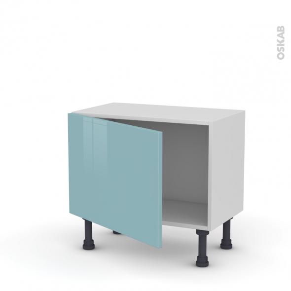 Meuble de cuisine - Bas - KERIA Bleu - 1 porte - L60 x H41 x P37 cm