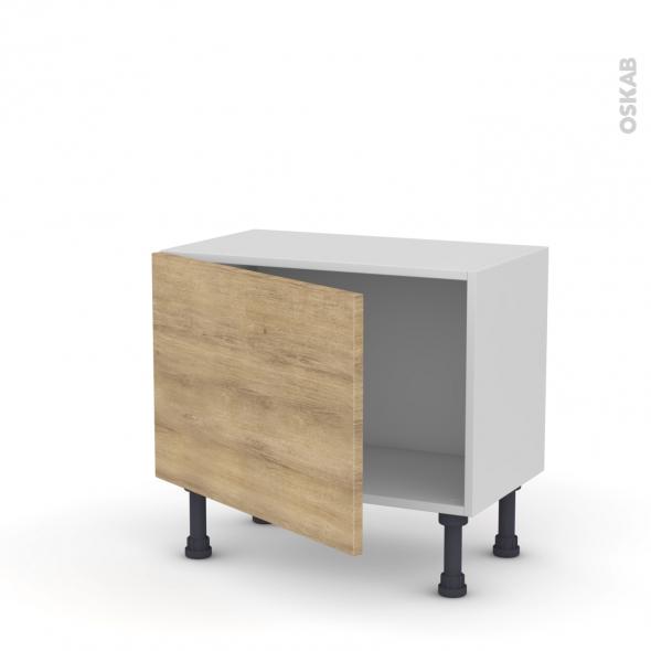 Meuble de cuisine - Bas - HOSTA Chêne naturel - 1 porte - L60 x H41 x P37 cm