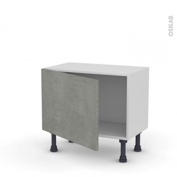 Meuble de cuisine - Bas - FAKTO Béton - 1 porte - L60 x H41 x P37 cm