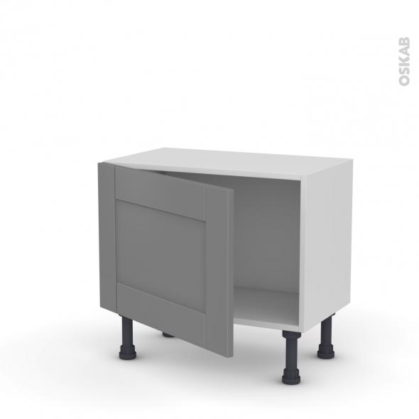 Meuble de cuisine - Bas - FILIPEN Gris - 1 porte - L60 x H41 x P37 cm