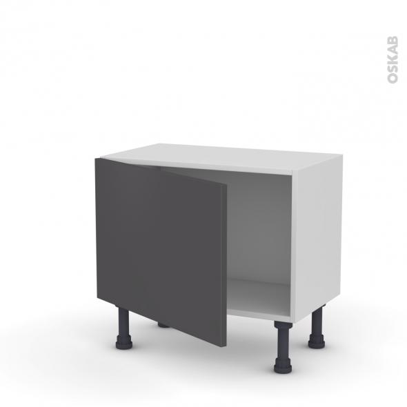 Meuble de cuisine - Bas - GINKO Gris - 1 porte - L60 x H41 x P37 cm