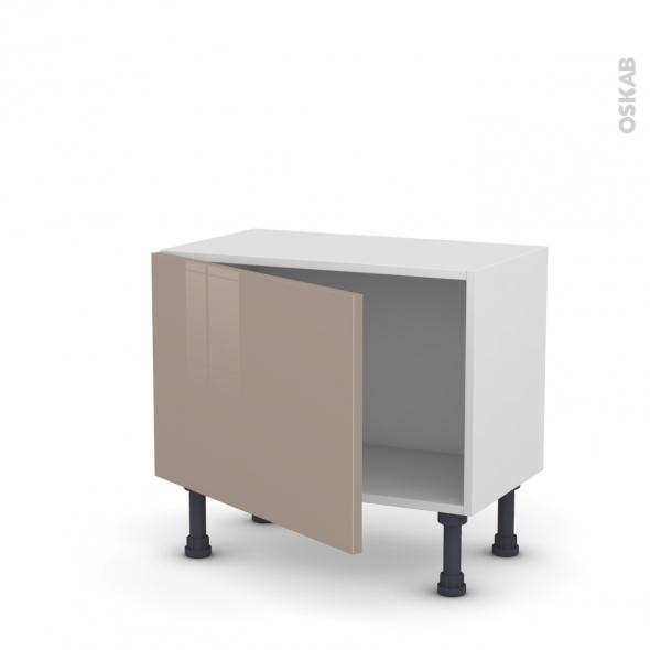 Meuble de cuisine - Bas - KERIA Moka - 1 porte - L60 x H41 x P37 cm