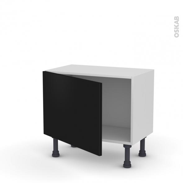 GINKO Noir - Meuble bas prof.37  - 1 porte - L60xH41xP37