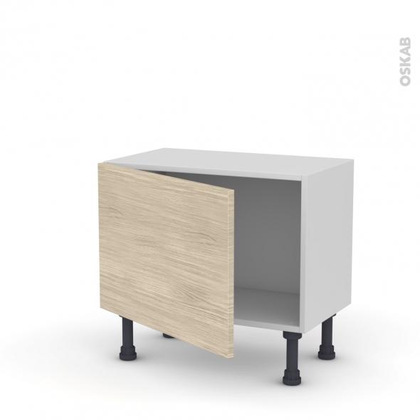Meuble de cuisine - Bas - STILO Noyer Blanchi - 1 porte - L60 x H41 x P37 cm