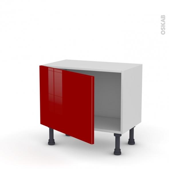 Meuble de cuisine - Bas - STECIA Rouge - 1 porte - L60 x H41 x P37 cm