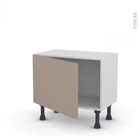 Meuble de cuisine - Bas - GINKO Taupe - 1 porte - L60 x H41 x P37 cm