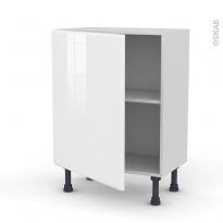 Meuble de cuisine - Bas - IRIS Blanc - 1 porte - L60 x H70 x P37 cm