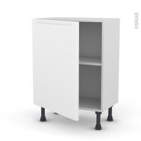 Meuble de cuisine - Bas - PIMA Blanc - 1 porte - L60 x H70 x P37 cm