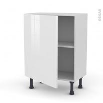 Meuble de cuisine - Bas - STECIA Blanc - 1 porte - L60 x H70 x P37 cm