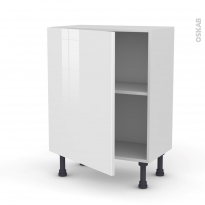 STECIA Blanc - Meuble bas prof.37  - 1 porte - L60xH70xP37