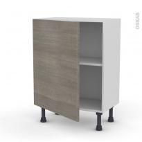Meuble de cuisine - Bas - STILO Noyer Naturel - 1 porte - L60 x H70 x P37 cm