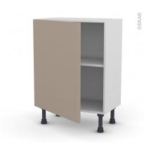 Meuble de cuisine - Bas - GINKO Taupe - 1 porte - L60 x H70 x P37 cm