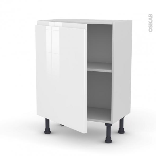 Meuble de cuisine - Bas - IPOMA Blanc - 1 porte - L60 x H70 x P37 cm