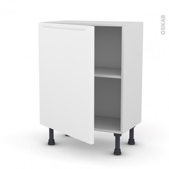 PIMA Blanc - Meuble bas prof.37  - 1 porte - L60xH70xP37