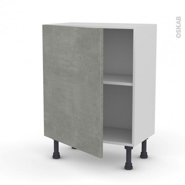 Meuble de cuisine - Bas - FAKTO Béton - 1 porte - L60 x H70 x P37 cm