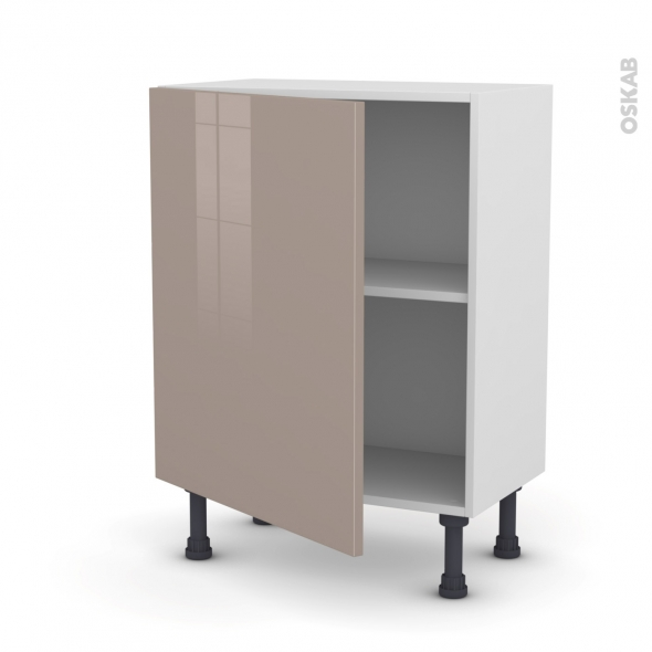 Meuble de cuisine - Bas - KERIA Moka - 1 porte - L60 x H70 x P37 cm