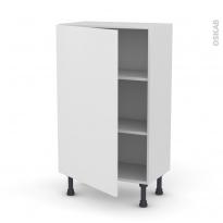 Meuble de cuisine - Bas - GINKO Blanc - 1 porte - L60 x H92 x P37 cm