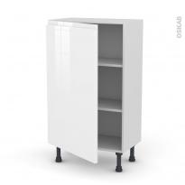 Meuble de cuisine - Bas - IPOMA Blanc - 1 porte - L60 x H92 x P37 cm
