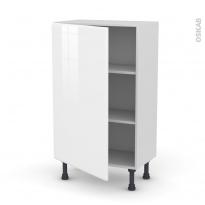 IRIS Blanc - Meuble bas prof.37  - 1 porte - L60xH92xP37