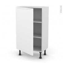 Meuble de cuisine - Bas - PIMA Blanc - 1 porte - L60 x H92 x P37 cm