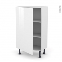 Meuble de cuisine - Bas - STECIA Blanc - 1 porte - L60 x H92 x P37 cm
