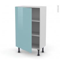 KERIA Bleu - Meuble bas prof.37  - 1 porte - L60xH92xP37